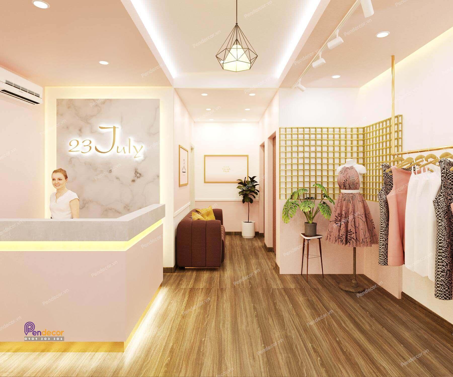 Thiết kế nội thất shop thời trang nữ phù hợp