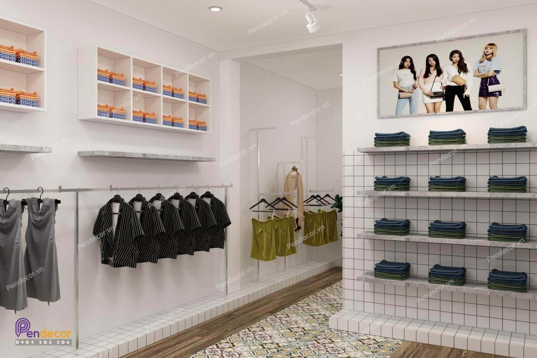 Shop thời trang nữ được thiết kế theo phong cách hiện đại