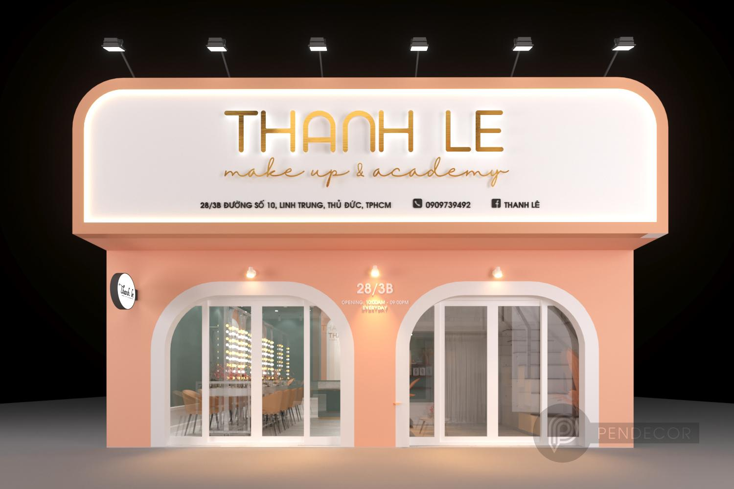 Thiết Kế Shop Studio Make Up Thanh Le
